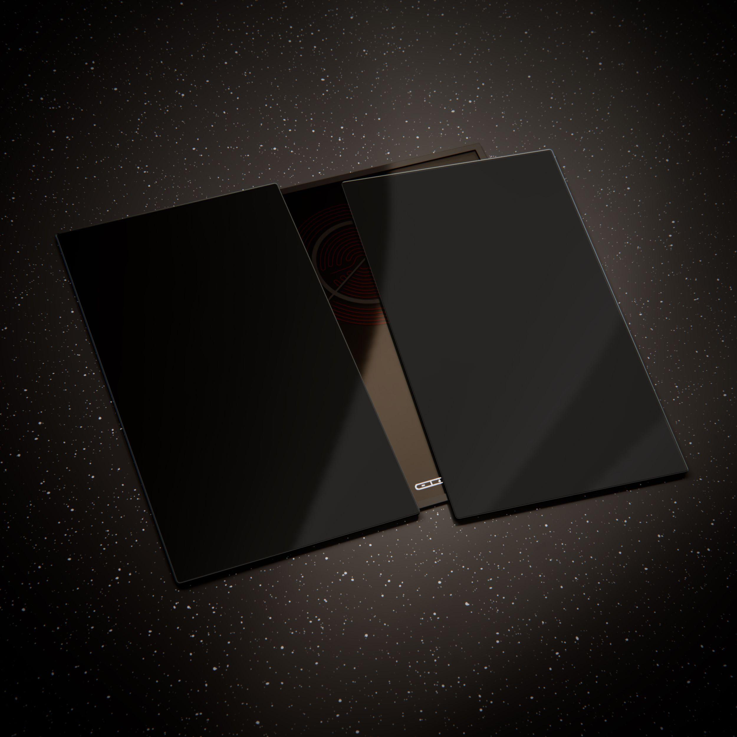 Verre à découper planche, cuisinière, plaque de cuisson couvercle ESG 3x30x52 cm Noir
