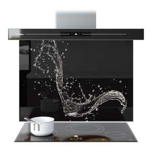 Splashback Glass Kitchen Tile Cooker Panel Any Size Water Splash Abstract 9083 Ebay